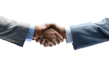 client shaking hands with their lawyer