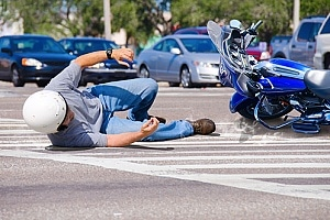 a man who got into a motorcycle accident and knows what to do after