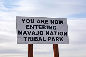 Navajo tribal park that is considered its own sovereign nation