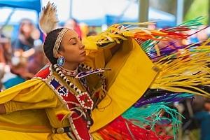 Woman in traditional tribal wear