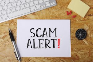 Online scams are a major problem