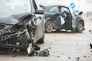 damages from a bad car accident between two cars
