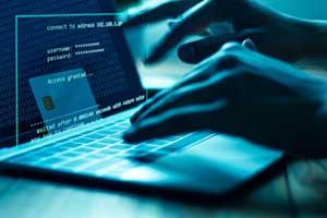 hacker stealing someone's identity