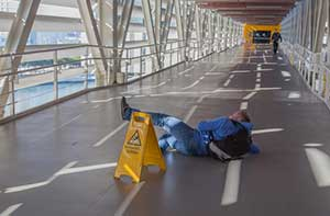 Man slipping and falling leading to a personal injury case