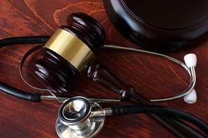 Gavel and stethoscope representing Taos personal injury representation