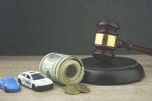 Car accident medical bills concept.