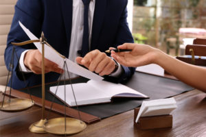 attorney explains in detail to the client of the personal injury case