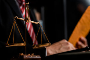 lawyer works on arguing statements before personal injury trial