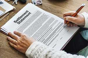 A settlement letter for a car accident